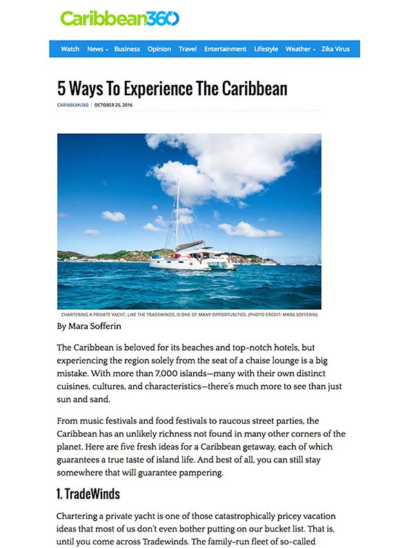 5 Ways to experience the Caribbean
