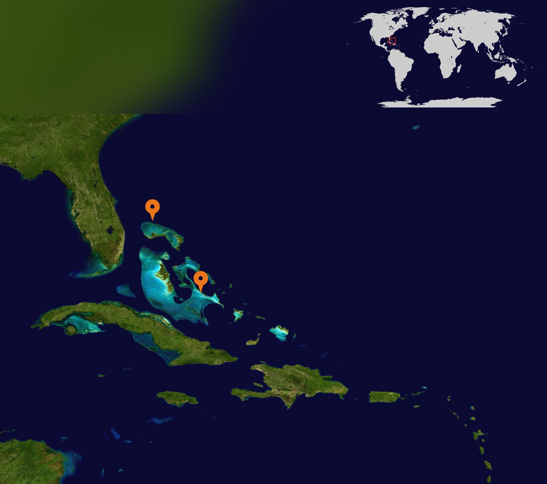 Bahamas satelite map