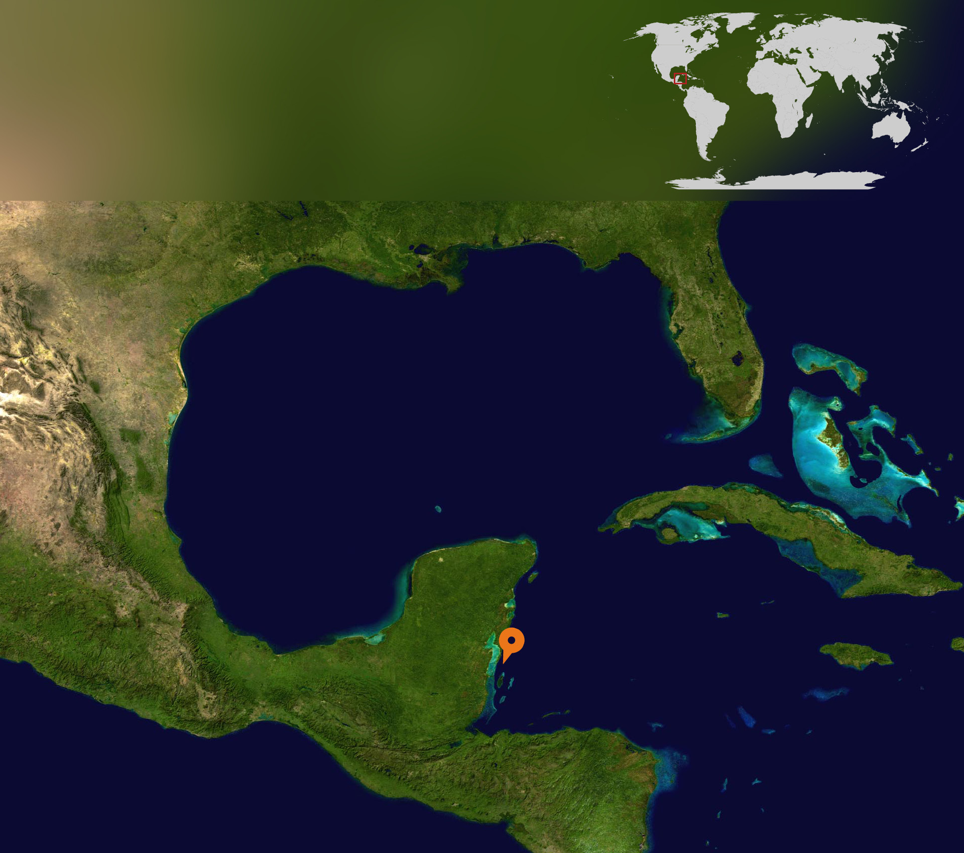 Central America satelite map